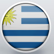 Stock Photo: Uruguay flag