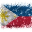 Stock Photo: Philippine flag on white background