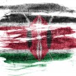 Kenya flag painted on paper with colored charcoals — Stock Photo #23438058