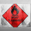 Stock Photo: Highly flammable sign drawn on painted on pills