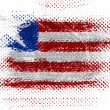 Stock Photo: Liberia. Liberiflag on dotted surface