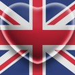The British flag - Stok fotoğraf