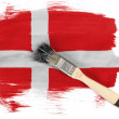 The Danish flag - Foto de Stock