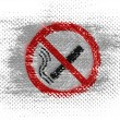 Stock Photo: No smoking sign drawn at on dotted surface