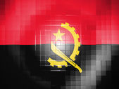 Angola. Angolan flag on wavy plastic surface — Stock Photo