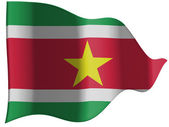Surinamese flag — Stock Photo