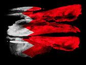 Bahreïn. drapeau bahreïni peint sur papier texturé noir avec aquarelle — Photo