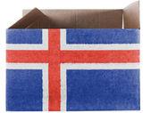 Izlanda bayrağı — Stok fotoğraf