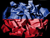 The Haitian flag — Stock Photo