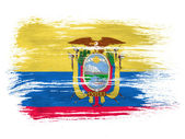 Ecuador flag on white background — Stock Photo