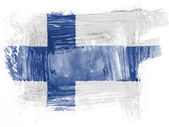 The Finnish flag — Stock Photo