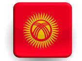 Kyrgyzstan flag painted on glossy icon — Stock Photo