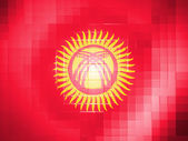 Kyrgyzstan flag on wavy plastic surface — Stock Photo