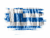 The Greek flag — Stock fotografie