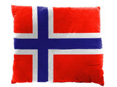 La bandiera norvegese — Foto Stock