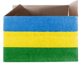 Bandera de mauritania pintado en caja de cartón o embalaje — Foto de Stock