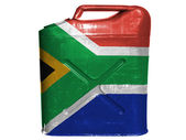 South African flag painted on gasoline can or gas canister — Stock Photo