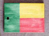 Benin. Benini flag painted over wooden board — Stock Photo