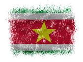 Surinamese flag on white background — Stock Photo