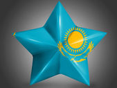 The Kazakh flag — Stock Photo