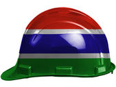The Gambia Flag — Stockfoto