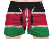 Drapeau du kenya peint sur chemises sport — Photo