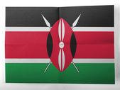 シンプルな紙のシートに描かれたケニアの旗 — ストック写真