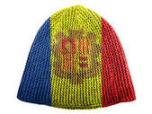 Andorra flag painted on cap — Stock Photo