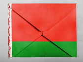 The Belarusian flag — Stock Photo