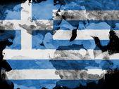 The Greek flag — Foto de Stock