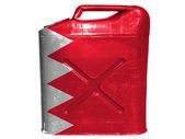 Bahrain. Bahraini flag painted on gasoline can or gas canister — Stock Photo