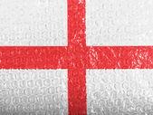 англия. английский флаг на bubblewrap — Стоковое фото