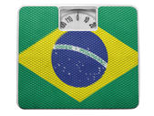 The Brazilian flag — Foto Stock