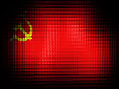 The USSR flag painted on — Stock Photo