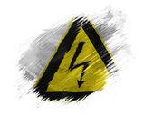 électrocution signe peint sur peint avec le pinceau sur fond blanc — Photo