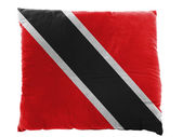 Trinidad and Tobago flag painted on pillow — Stock Photo