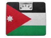 The Jordanian flag — Stock Photo