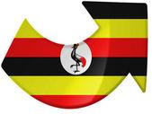 Uganda flag painted on — Stock Photo