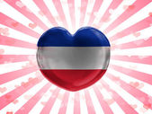 The Serbia and Montenegro flag — Stock Photo