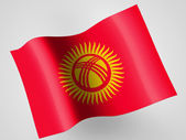 Kyrgyzstan flag — Stock Photo