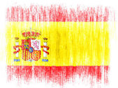The Spanish flag — Foto Stock
