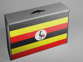 Uganda flag — Stock Photo