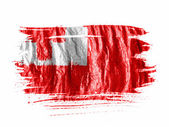 Tonga flag painted with watercolor on wet white paper — Stock Photo