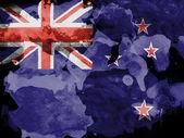 The New Zealand flag — Stock Photo
