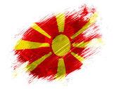Macedonia flag painted with brush on white background — Stock Photo
