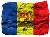 Andorra flag painted on crumpled paper — Stock Photo