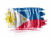 ぬれた白い紙に水彩で描かれたフィリピンの旗 — ストック写真