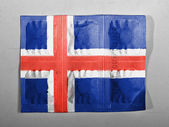 The Icelandic flag — Foto Stock