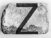 Z letter painted on brick — Stock Photo