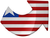 Liberia flag painted on — Stock Photo